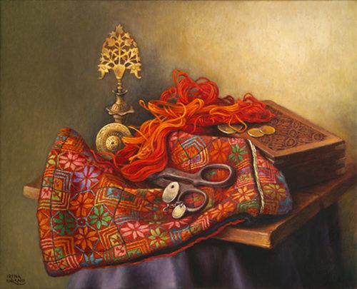 Embroidery in Progress by Irina Karkabi