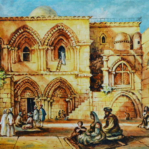 Holy Sepulchre in Ancient Times by Aram Hambaryan