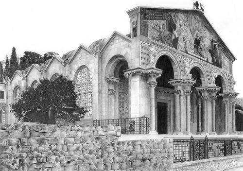 Church of Gethsemane 1930 by Shehab Kawasmi
