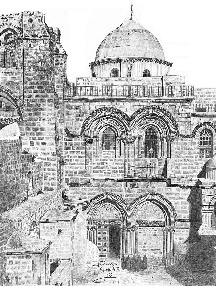 Church of the Holy Sepulchre by Shehab Kawasmi
