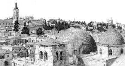 Holy Sepulchre Panorama by Shehab Kawasmi
