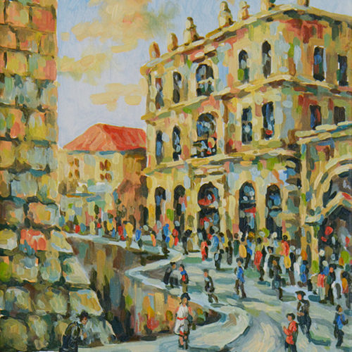 Inside Jaffa Gate by Aram Hambaryan