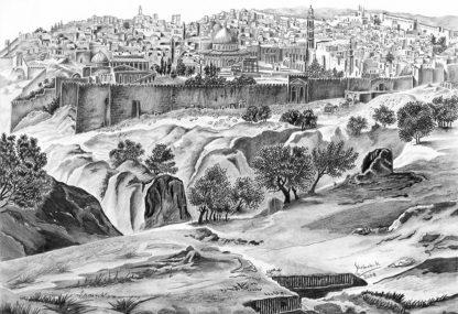 Jerusalem in 1700 by Shehab Kawasmi