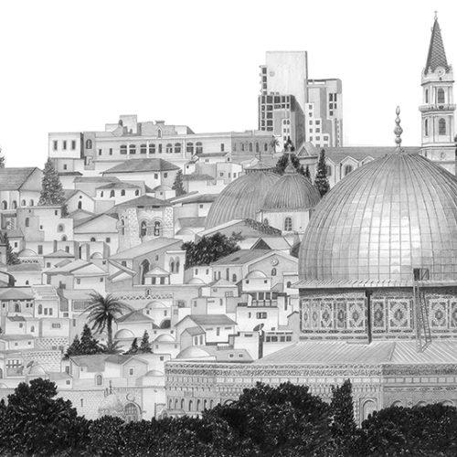 Jerusalem Panorama S by Shehab Kawasmi