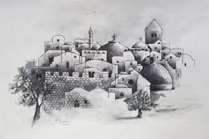 Jerusalem Skyline by Mohammed Joulani