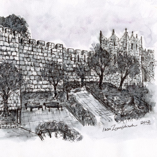 Jerusalem Wall by Issa Zawahreh