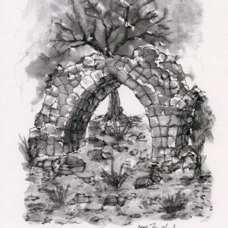 Ruined Arch (black & white) by Issa Zawahreh