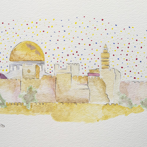 Effervescent Jerusalem by Ahed Izhiman