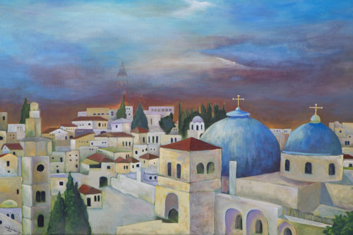 Jerusalem from the West by Ahed Izhiman