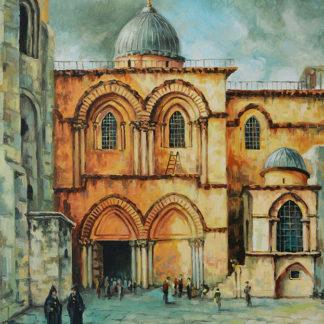 Courtyard of the Holy Sepulchre Church by Aram Hambaryan