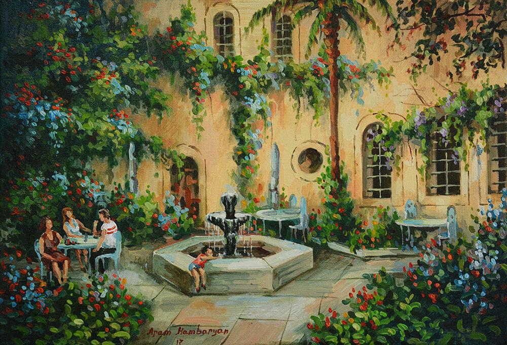 American Colony Courtyard by Aram Hambaryan