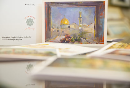Jerusalem View (Card) by Sophie Walbeoffe